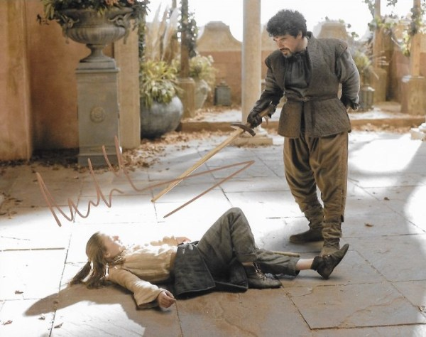 Miltos Yerolemou Signed Syrio Forel 10x8, these were signed at Carlisle Comic Con March 2018.