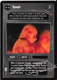 Jane Busby Signed Ugnaught CCG Card