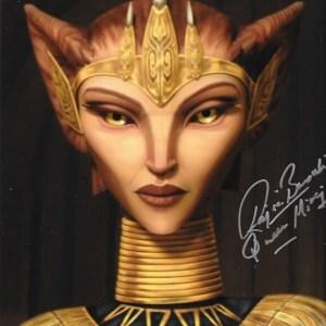 Rajia Baroudi Signed Queen Miraj Scintel 10x8
