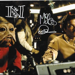Mike Quinn Signed Nien Nunb 10x8