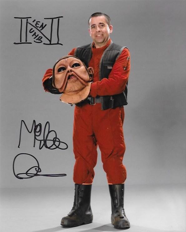 Mike Quinn Signed Nien Nunb 10x8
