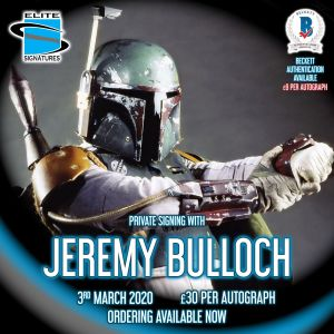 Jeremy Bulloch Private Signing