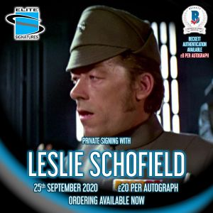 Leslie Schofield Private Signing
