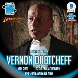 Vernon Dobtcheff Private Signing