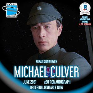 Michael Culver Private Signing