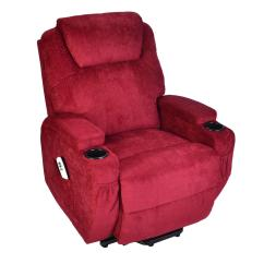Push Button Recliner Chairs Kitchen Chair Cushions Non Slip Burlington Fabric Dual Motor Riser Elite