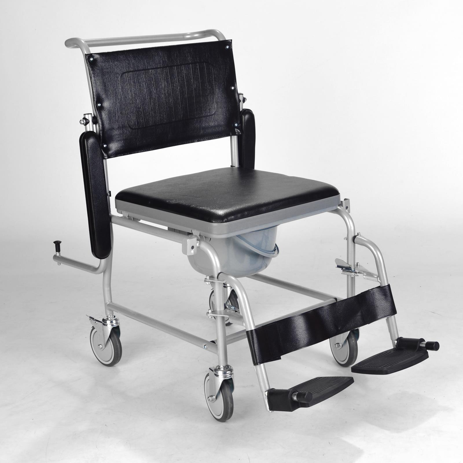 commode chair uk folding ace hardware mobile wheeled with brakes