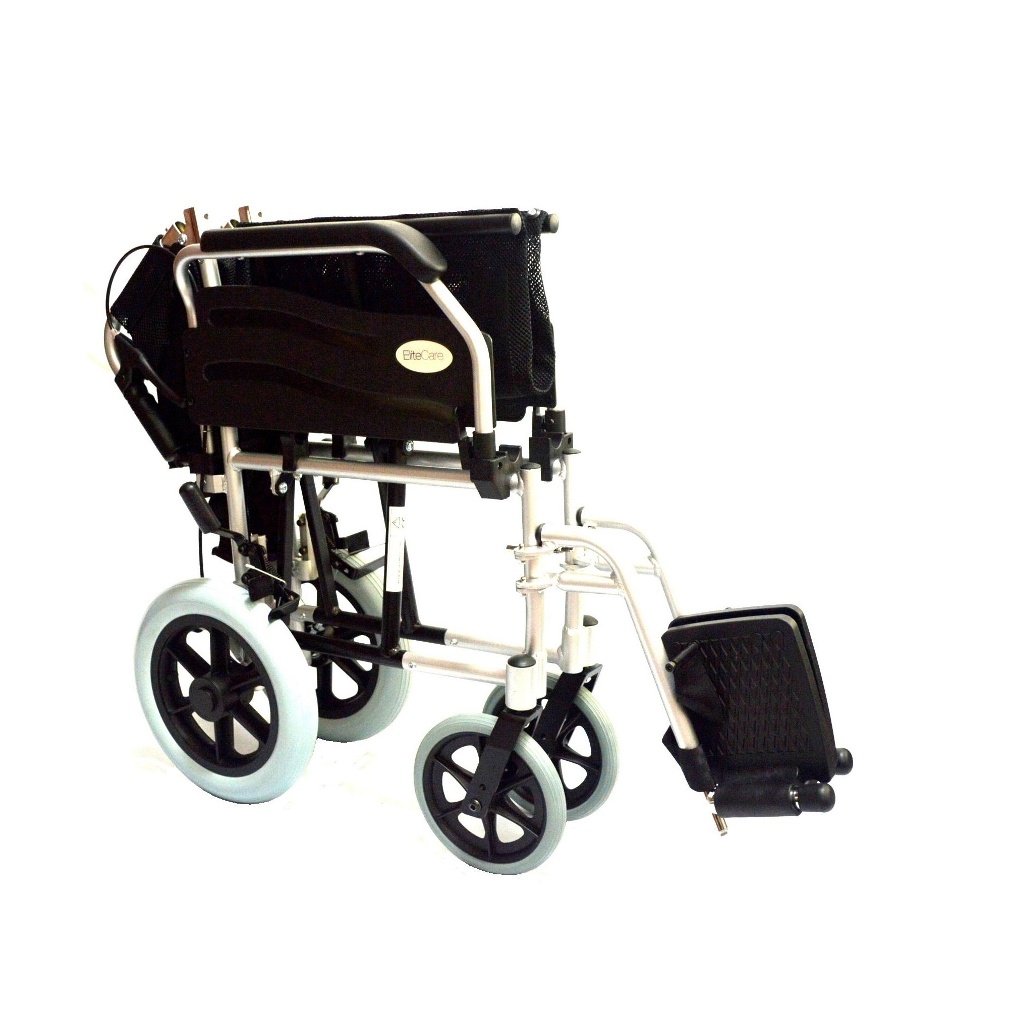 Lightweight Aluminium folding transit wheelchair with 20