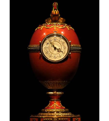 A Fabergé egg makes for an interesting prop, if you have one of those.