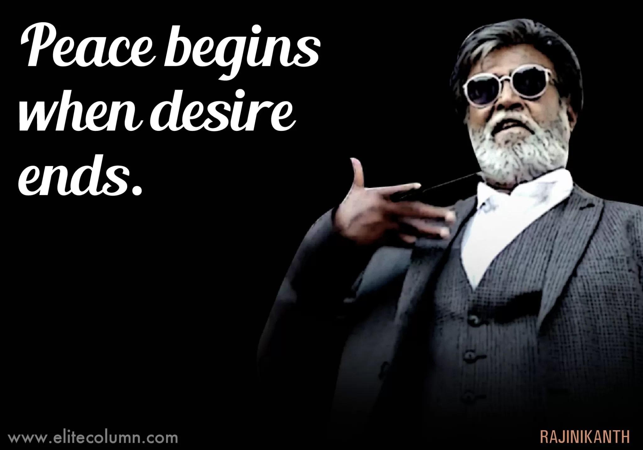 Life Wallpaper With Quotes In Hindi 12 Incredible Superstar Rajinikanth Quotes Elitecolumn