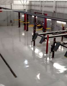Automobile service bays get updated with seamless flooring systems also  resurfacing for commercial industrial uses rh elitecrete