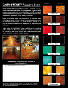 Chem stone reactive stain colour chart portion control also elite crete systems charts rh elitecreteaustralia