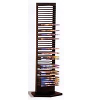 DVD And CD Racks: Black Metal DVD Rack 700023 CO
