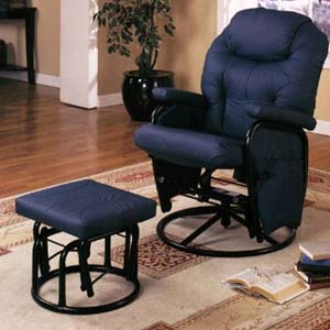 blue glider chair covers recliner chairs and ottomans navy rocker 7298 co