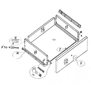 Assembly Instructions For B030 (HT): Assembly Of Drawer