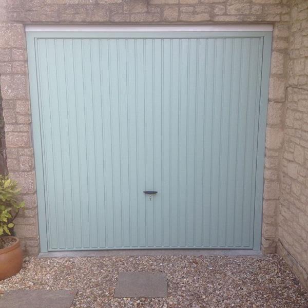 Cardale Steel Retractable Up  Over Garage Door in Chartwell Green  Elite GD