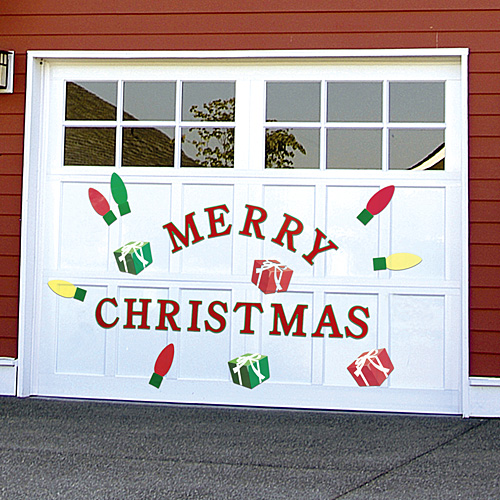 Garage doors love Christmas too!