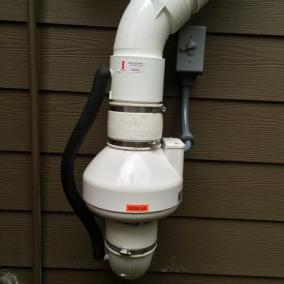 Proper Radon Service Installation Outside
