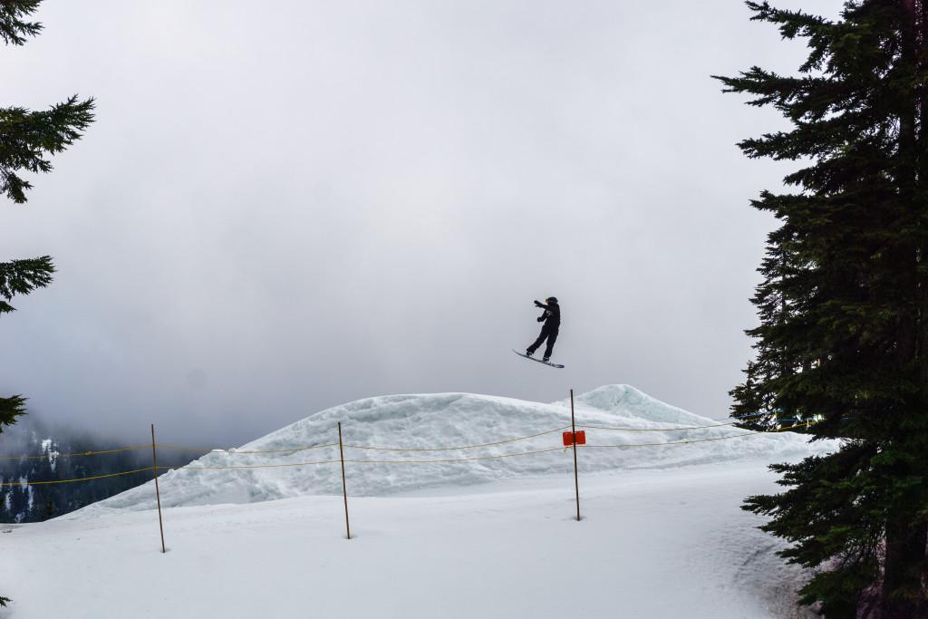 Black mountain snowshoeing
