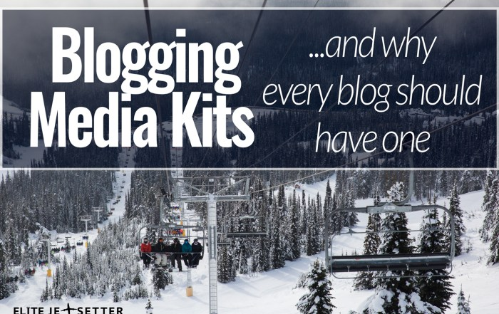 blogging media kit