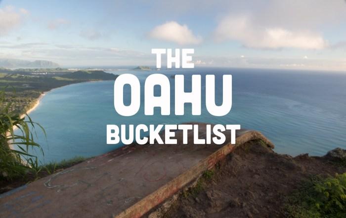 Oahu Bucketlist