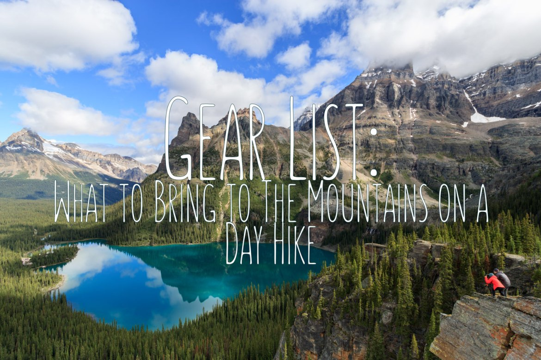 Gear List Day Hike