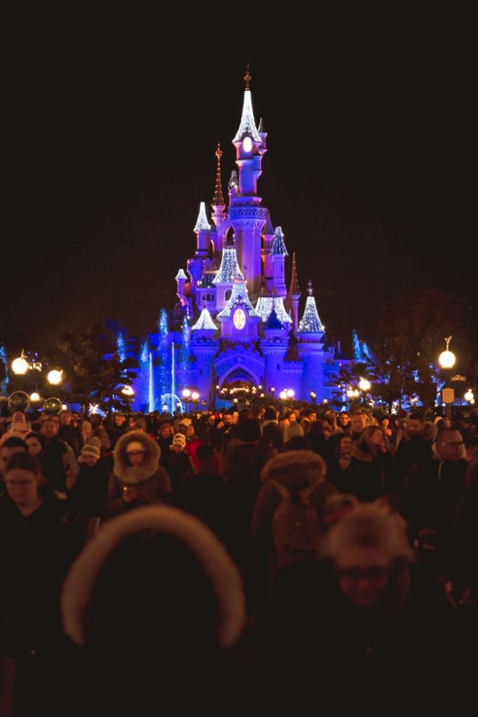 Paris Disney night time