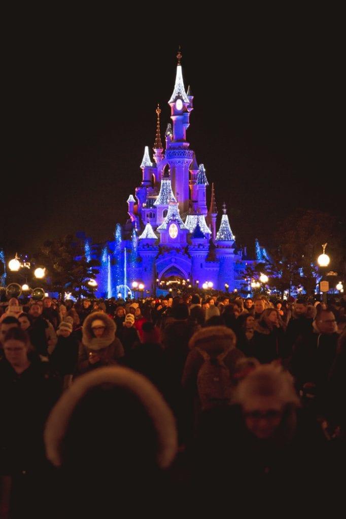 Paris Disney night time