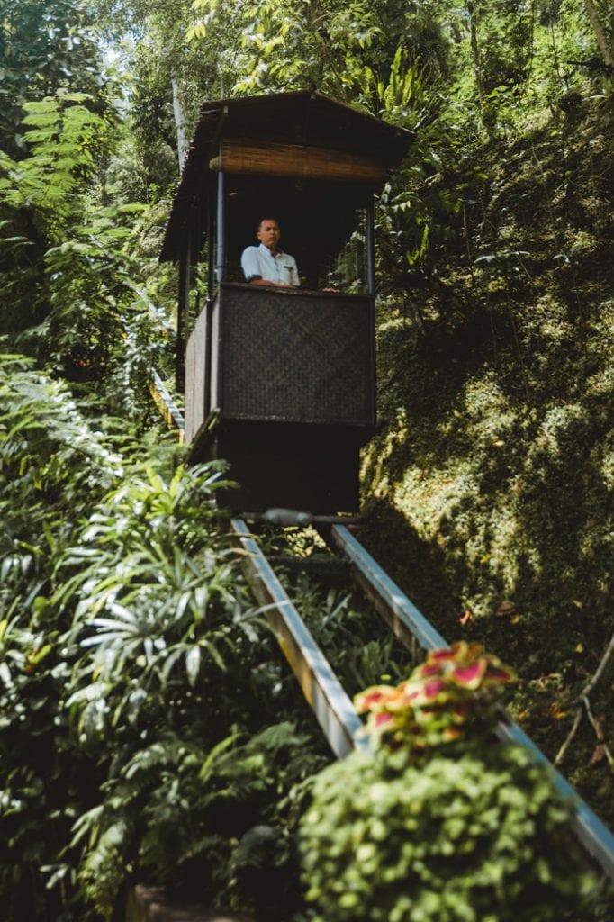 Hanging Gardens of bali funicular railway