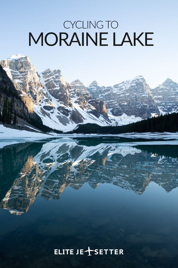 Cycling to Moraine Lake