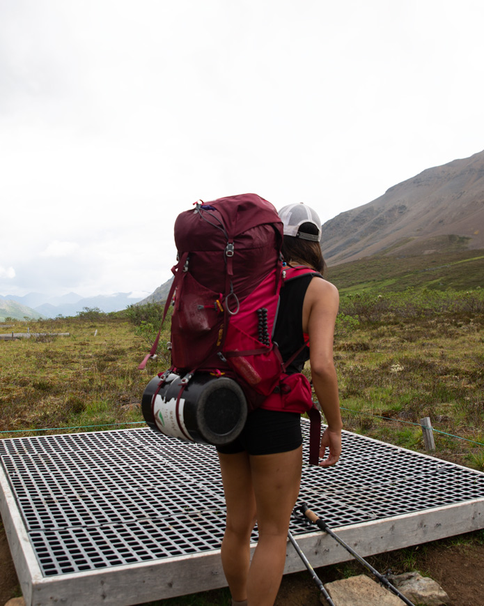 Backpack packing for the backcountry