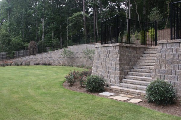 hardscape wall stairs - landscaping