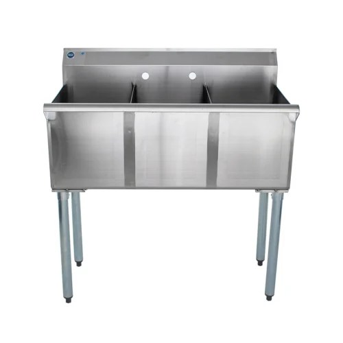 universal bs1512 3 three compartment sink 36