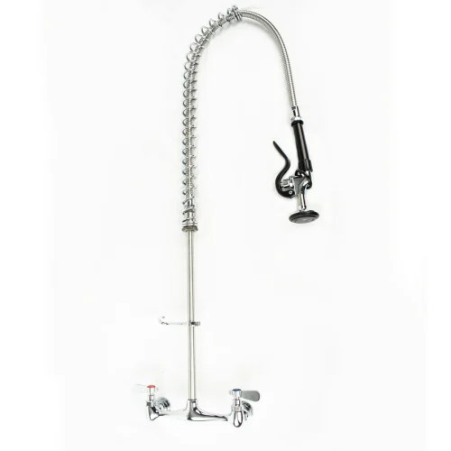 universal wall mounted pre rinse faucet with 8 centers