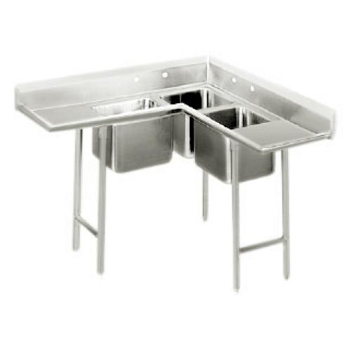 universal cs4625 46 x 25 three compartment corner sink