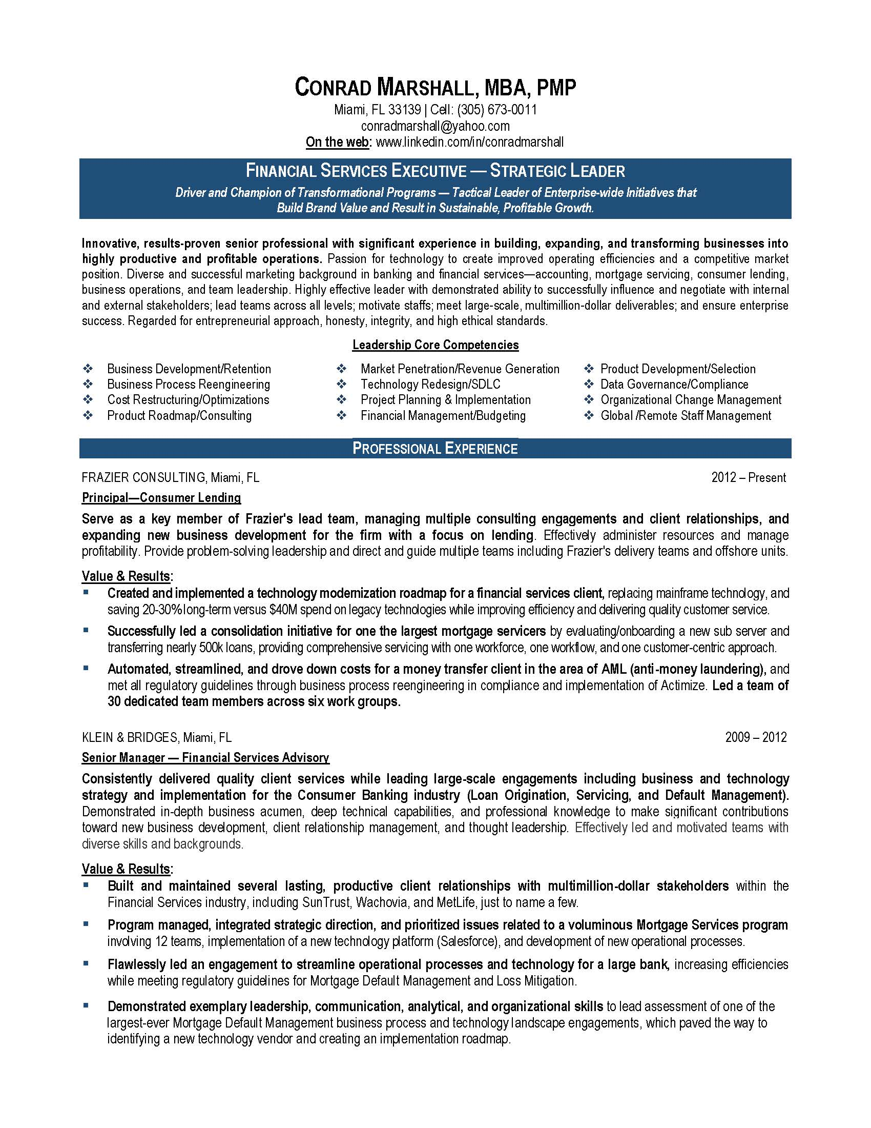 finance resume sample provided by elite resume writing services
