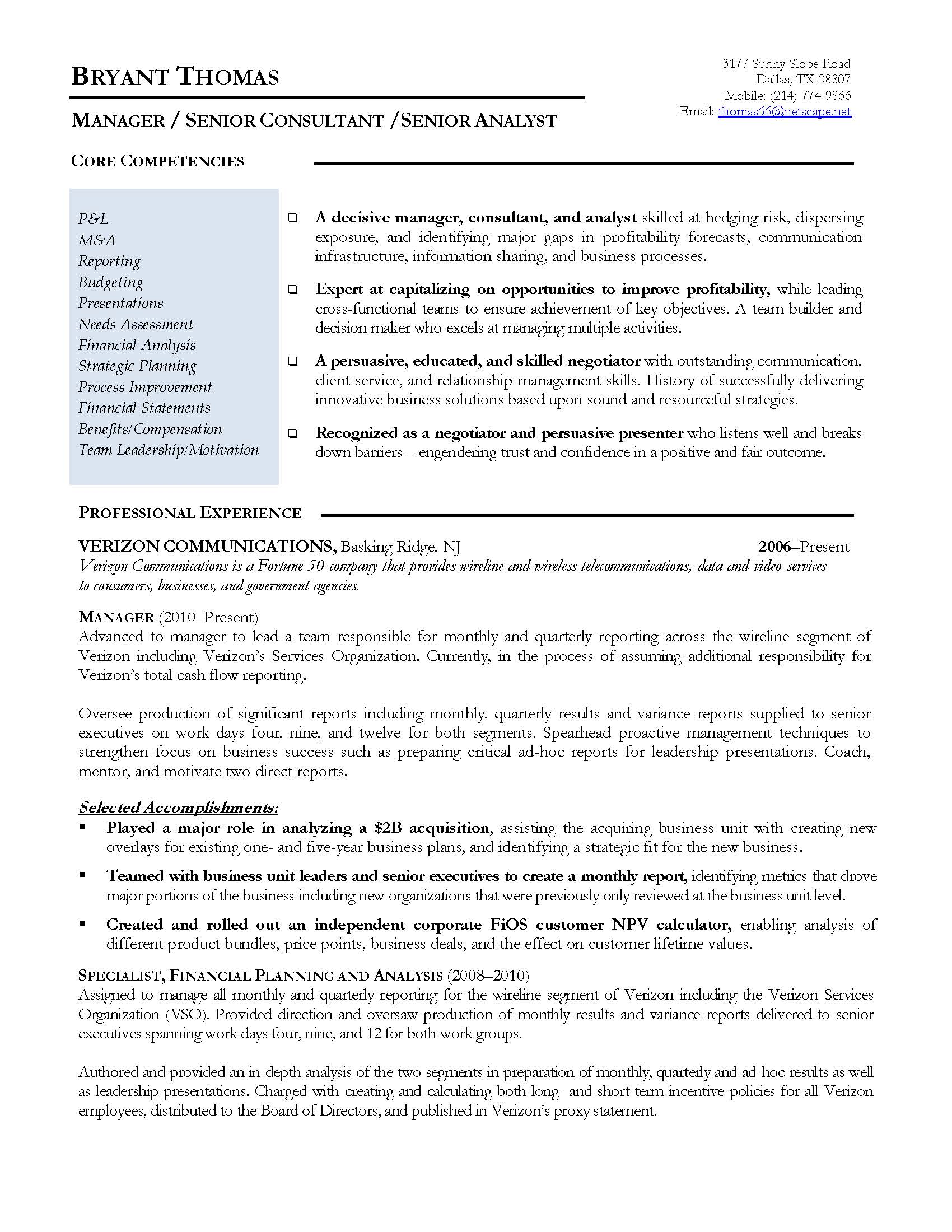 Superb Finance Manager Resume Sample, Provided By Elite Resume Writing Services Design Inspirations