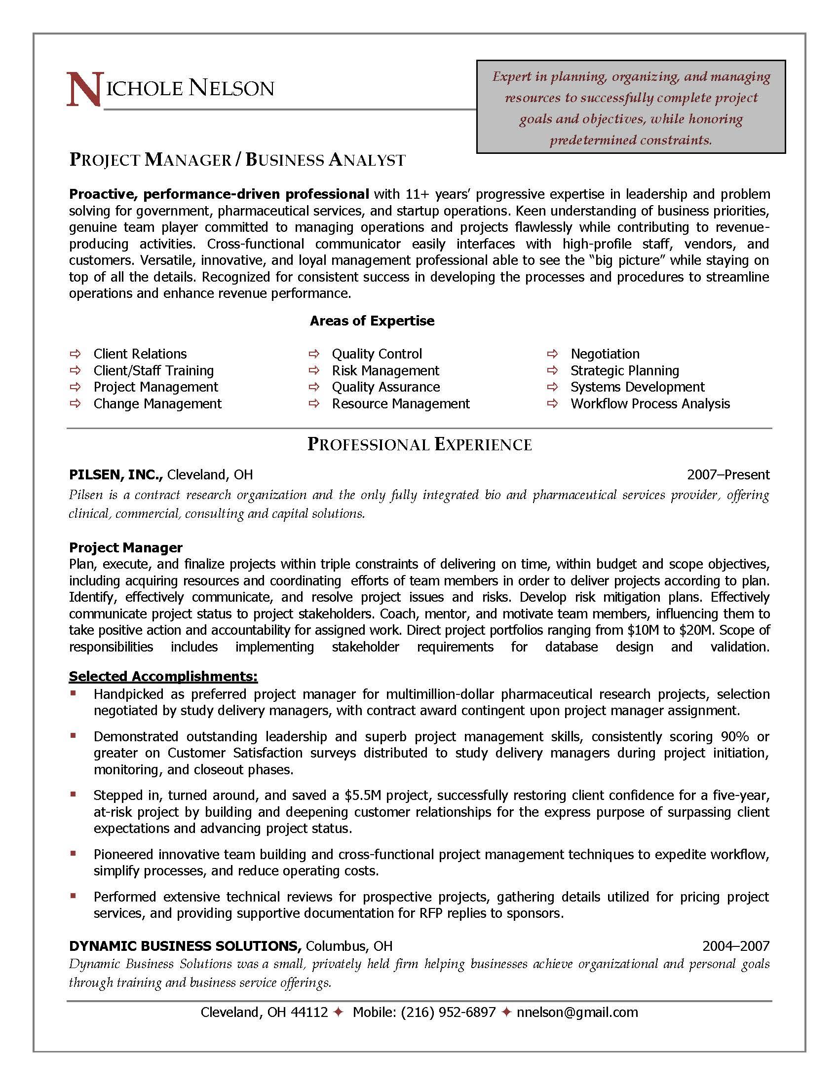 devops project manager resume sample