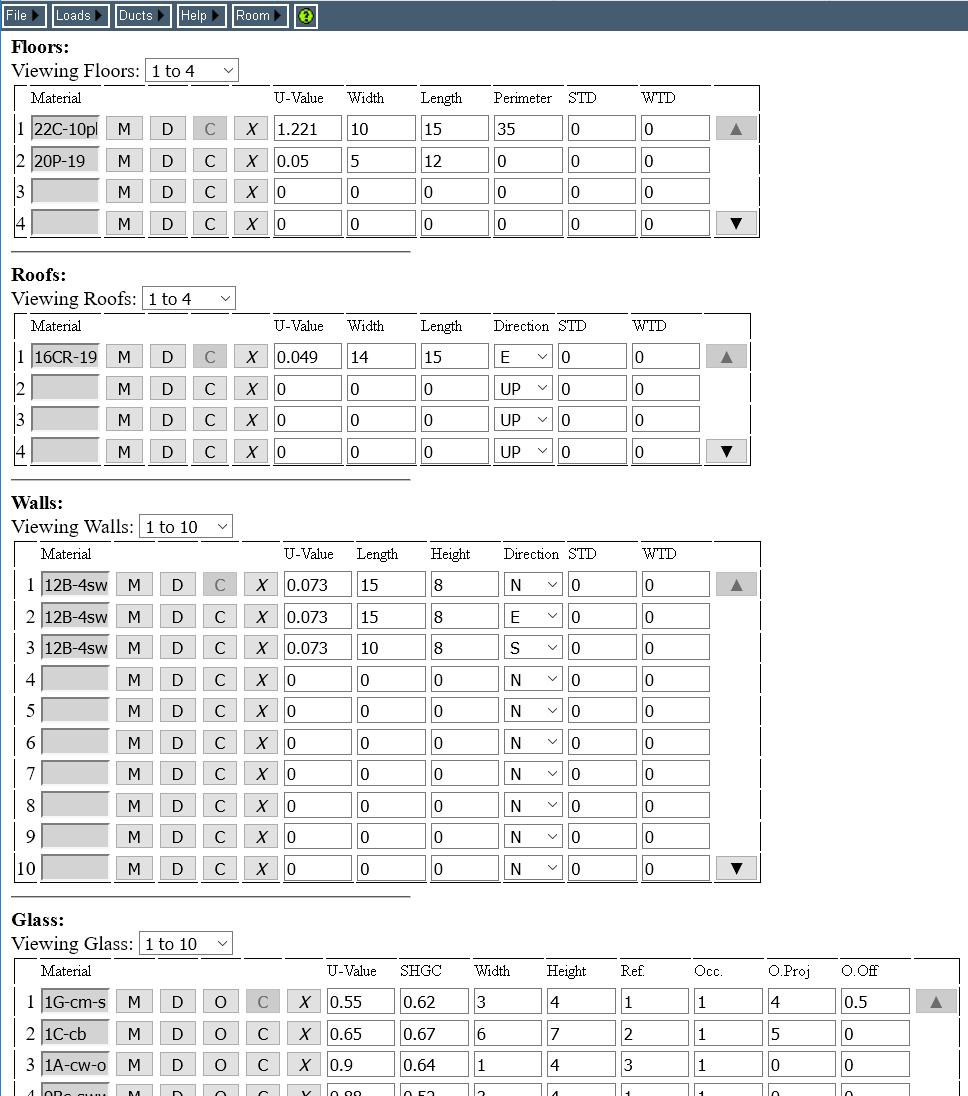 medium resolution of room data page on a pc rhvac online