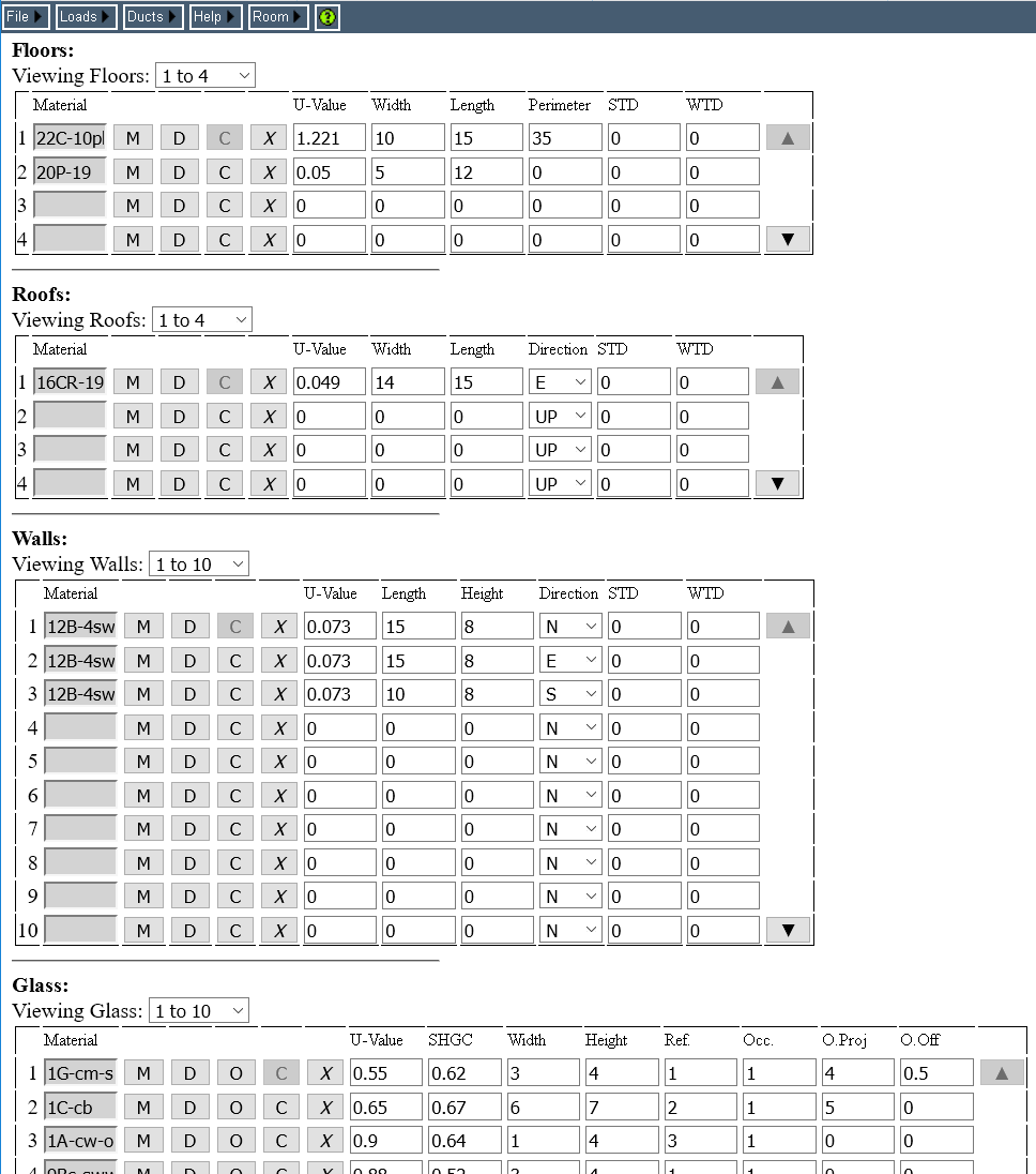 hight resolution of room data page on a pc rhvac online