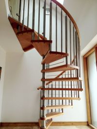 Timber-tread-Modern - Elite Spiral Staircases
