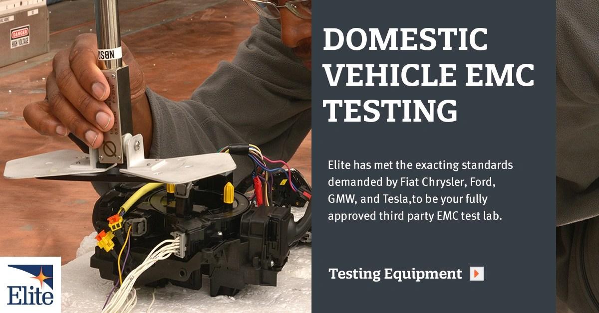 EMC Testing Domestic Autos  Elite Electronic Engineering