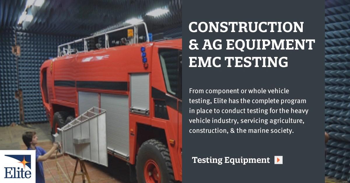 EMC Testing for Heavy Vehicles  Elite Electronic Engineering Inc