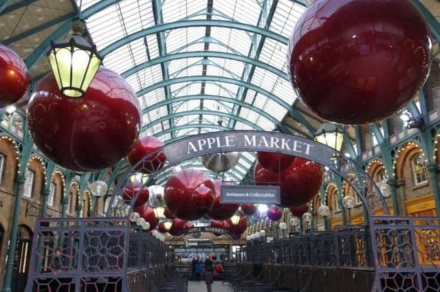 Apple Market Christmas Baubles Covent Garden