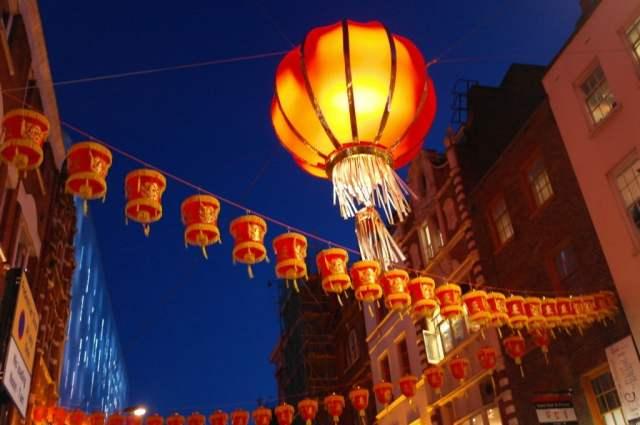 Lanterns, Chinese New Year, Chinatown, London
