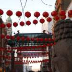 Lanterns and dragon, Chinese New Year, Chinatown, London