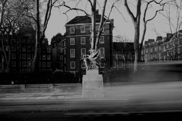 London Dragon Black and White