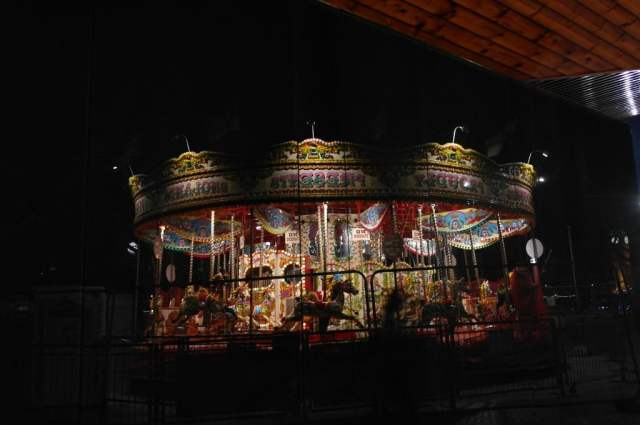 Merry-Go Round, Southbank, London - reflection