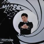 Me striking a James Bond pose at Bond in Motion