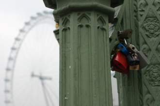 Love locks, London Eye, London